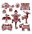 maya or indian traditional signs vector image vector image