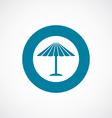 parasol mask icon bold blue circle border vector image vector image