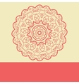 Red Doodle Symmetry Mandala Design vector image vector image