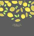 ripe lemon vector image vector image