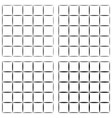 set seamless pattern grid tiles grid cells vector image