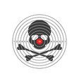 shooting target with skull vector image