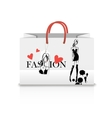 Shopping Bag with a print - ink sketch vector image
