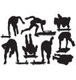 skeleton sport silhouette vector image vector image