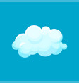 small floating cloud weather application icon vector image vector image
