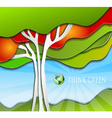 Stylized simple nature background vector image