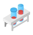 Test tube isometric 3d icon vector image vector image