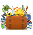 tourism concept with baggage vector image