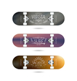 Trendy print on a skateboard vector image vector image