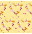 Tropical Hearts Flowers Background vector image vector image