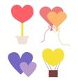 Valentines symbols vector image