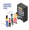 vending machine isometric vector image vector image