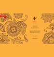 vintage indian ethnic template vector image