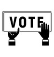 vote poster icon simple style vector image