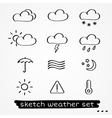 Weather sketch set vector image vector image