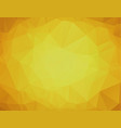 yellow polygonal background yellow abstract vector image vector image