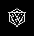za logo monogram with triangle and hexagon shape vector image vector image