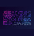 colorful reading or banner vector image