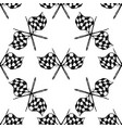 seamless pattern with tribal racing checkered flag vector image