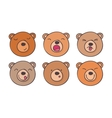Set smileys bears vector image