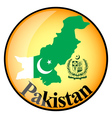 orange button with the image maps of Pakistan vector image