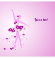 Beautiful background with tender ballerina in vector image