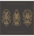 Easter Rabbit Emblem vector image