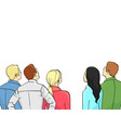 a crowd of spectators stand back isolated object vector image vector image