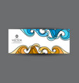abstract business card with blue vector image vector image