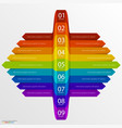 arrows business growth rainbow vector image vector image