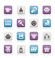 baby and toys icons vector image vector image