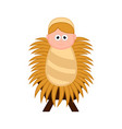 baby jesus cartoon character on a manger vector image vector image