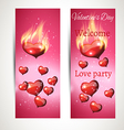 banner ads on a pink background vector image vector image
