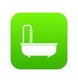 bathroom icon digital green vector image vector image