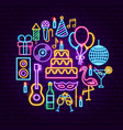 birthday party neon concept vector image vector image