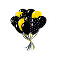 black and yellow in the air balloons vector image vector image