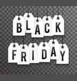 black friday price sale text labels transperent vector image