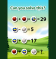 can you solve this worksheet vector image vector image