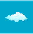 cartoon icon of fluffy light blue cloud flying in vector image vector image
