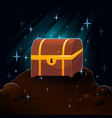 cave and treasure chest vector image