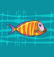cichlid aquarium fish vector image vector image