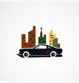 city car retro concept logo icon element and vector image