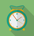 Classic alarm clock icon Modern Flat style with a vector image vector image