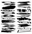 collection ink strokes brush lines spots vector image vector image