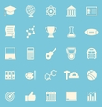 College color icons on blue background vector image vector image
