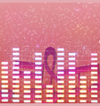 colorful luminous music background vector image vector image
