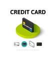 Credit card icon in different style vector image vector image