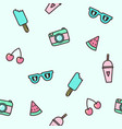 cute objects seamless pattern vector image