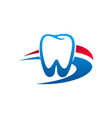 dental clinic tooth and dentist icon vector image vector image