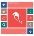 dolphin symbol icon elements for your design vector image